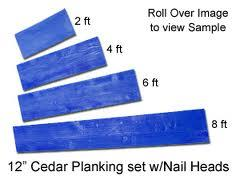 Where to find CEDAR WOOD PLANKING, SET OF 5 in St. Joseph